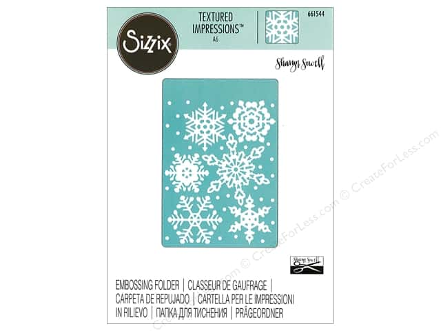 Sizzix Textured Impressions Embossing Folders 1 pc. Falling Snowflakes