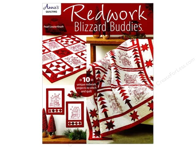 Redwork Blizzard Buddies Book by Pearl Louis Krush