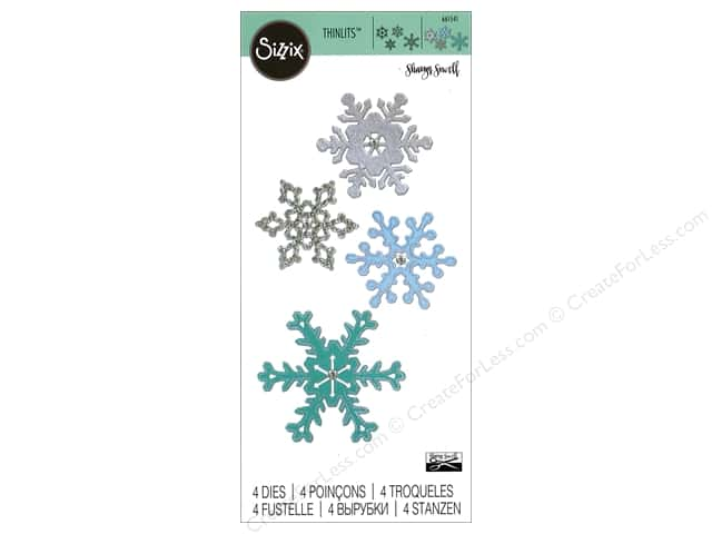 Sizzix Thinlits Die Set 4 pc. Snowflakes #2