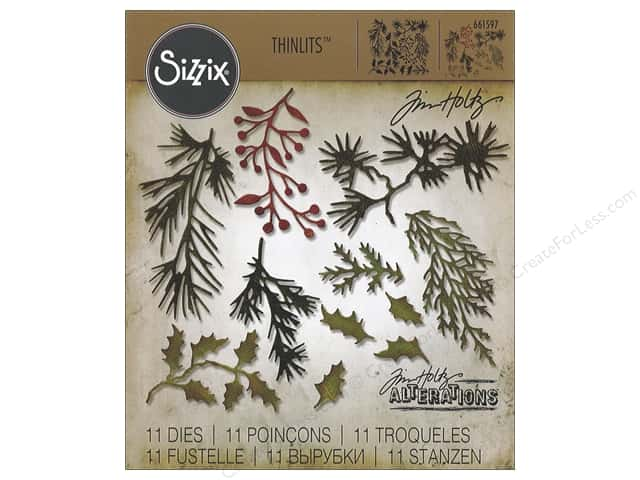 Sizzix Thinlits Die Set 11 pc. Mini Holiday Greens