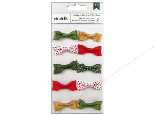 American Crafts Adhesive Bows All Wrapped Up Christmas Holiday