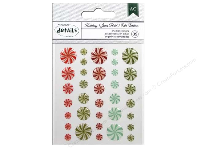 American Crafts Enamel Stickers All Wrapped Up Holiday