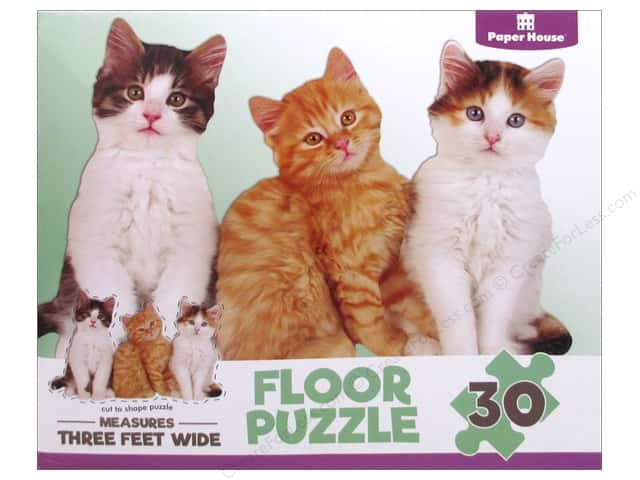 Paper House Puzzle Floor Kittens 30pc