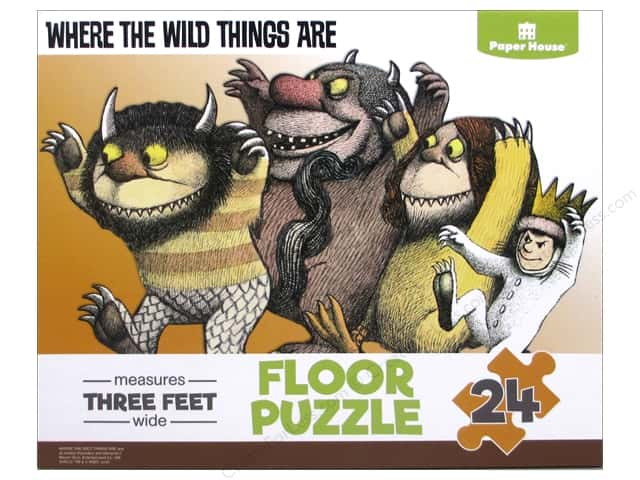 Paper House Puzzle Floor Where The Wild Things Are 24pc