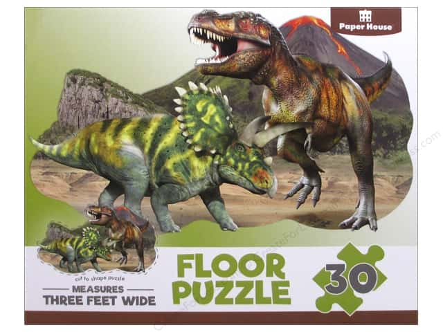 Paper House Puzzle Floor Dinosaurs 30pc