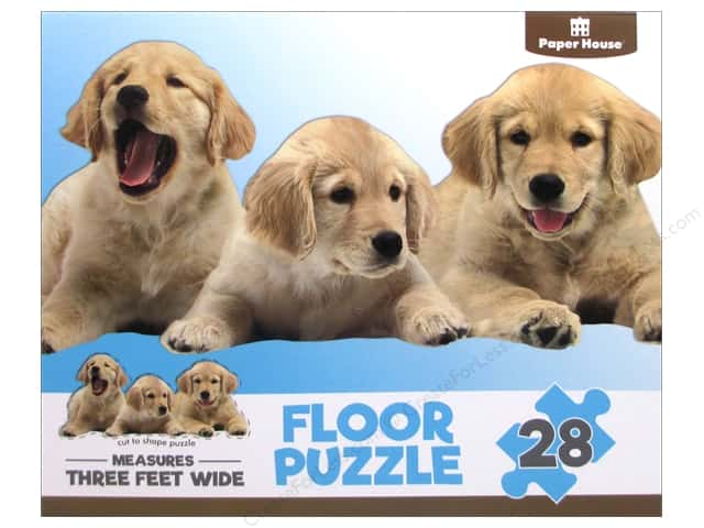 Paper House Puzzle Floor Puppies 28pc