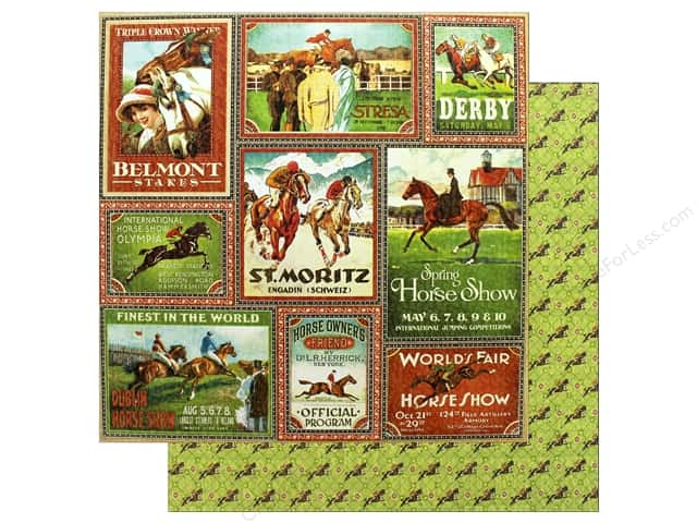 Graphic 45 12 x 12 in. Paper Off To The Races Belmont Stakes (25 sheets)