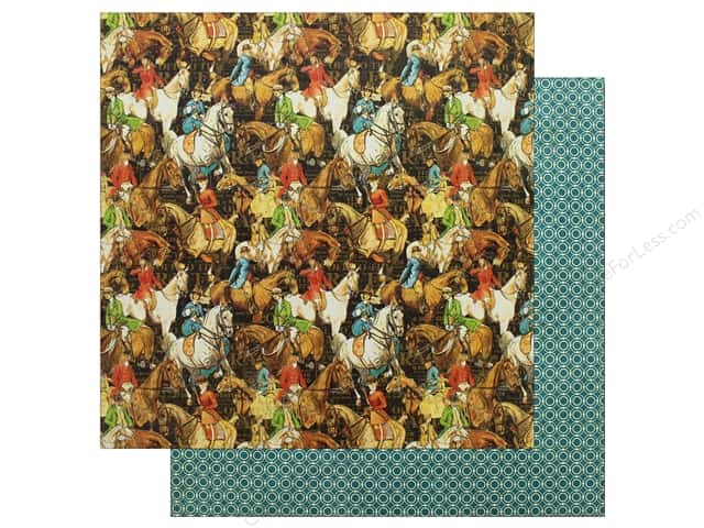 Graphic 45 12 x 12 in. Paper Off To The Races Hot To Trot (25 sheets)