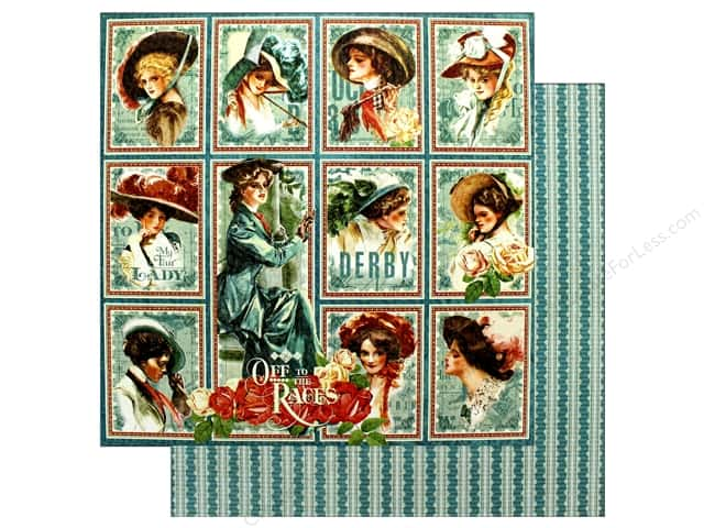 Graphic 45 12 x 12 in. Paper Off To The Races My Fair Lady (25 sheets)