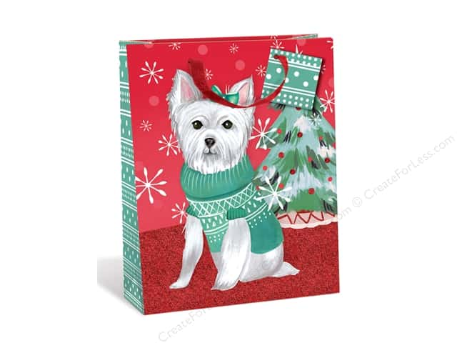 Lady Jayne Gift Bag Sweater Pups Large Westie