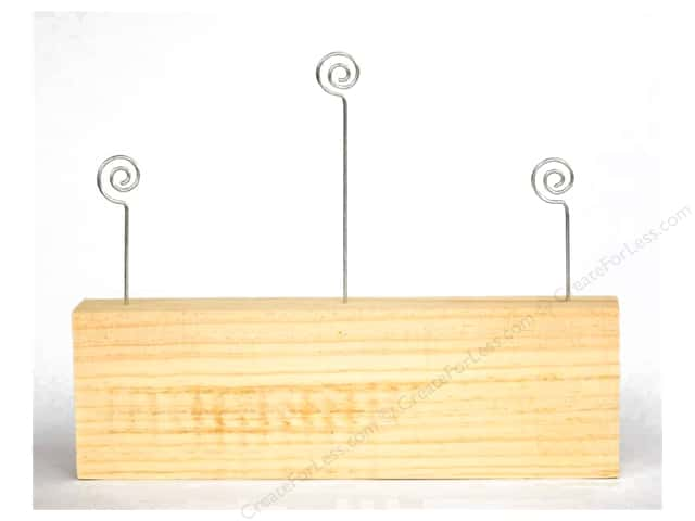 Foundations Decor Wood Shape Block 3 Photo Wires