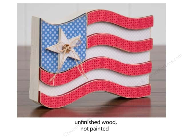 Foundations Decor Wood Shape Shape USA Flag