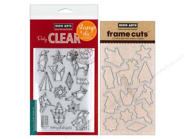 Hero Arts Stamp & Cuts Origami Holiday