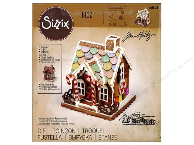 Sizzix Dies Tim Holtz Bigz Village Gingerbread