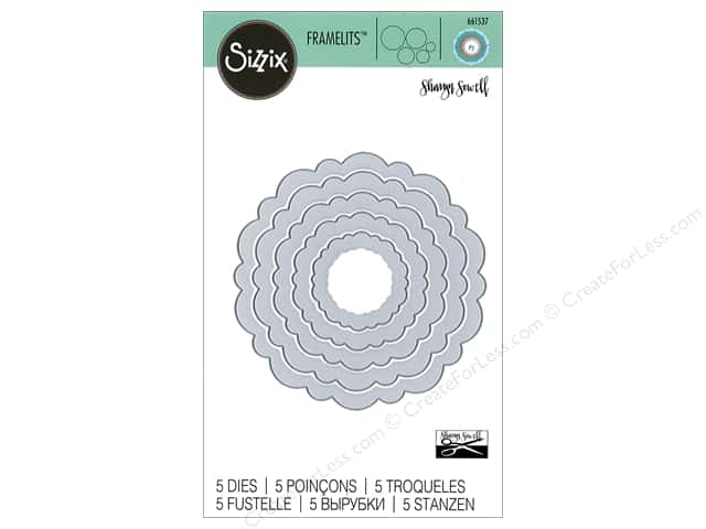 Sizzix Dies Sharyn Sowell Framelits Circles Rounded Scallops