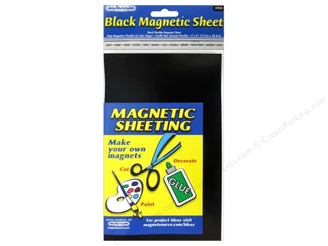The Magnet Source Flexible Magnetic Sheeting 5 x 8 in. Black (3 sheets)