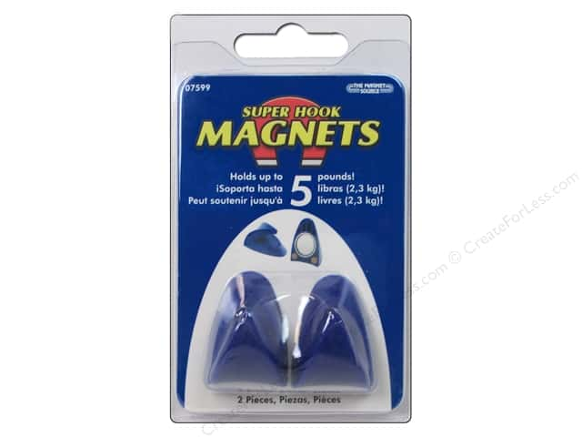 The Magnet Source Neodymium Magnet Hooks with Grip Pads 2 pc.
