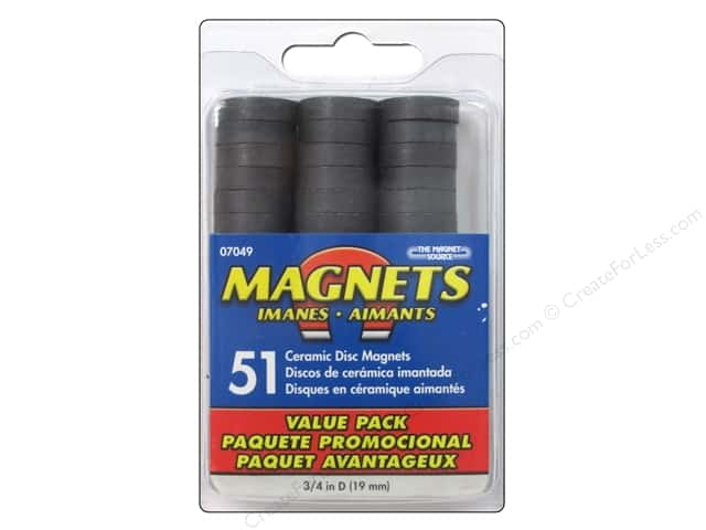 The Magnet Source Ceramic Disc Magnets 3 4 In 51 Pc
