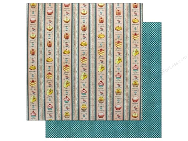 Graphic 45 12 x 12 in. Paper Cafe Parisian Petits Four (25 sheets)