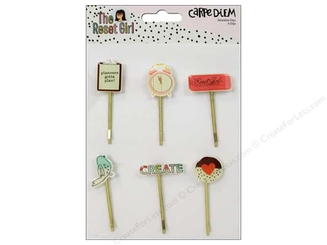 Simple Stories Collection Carpe Diem The Reset Girl Decorative Clips