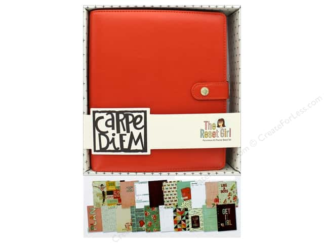 Simple Stories Collection Carpe Diem Reset Girl A5 Planner Set Persimmon