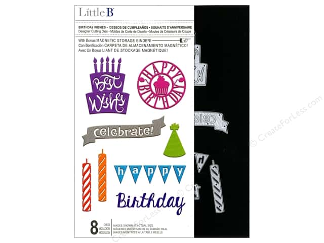 Little B Cutting Dies Designer Birthday Wishes
