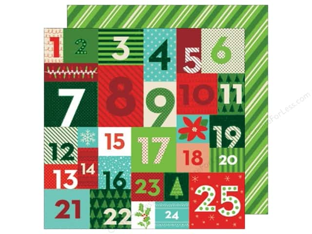 American Crafts 12 x 12 in. Paper All Wrapped Up Advent (25 sheets)