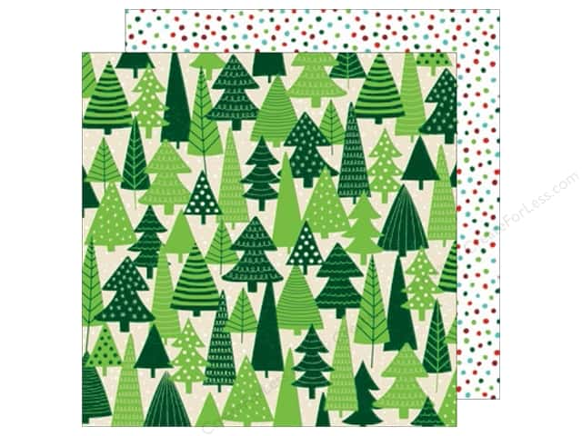 American Crafts 12 x 12 in. Paper All Wrapped Up Evergreen (25 sheets)
