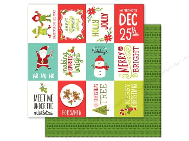 Pebbles 12 x 12 in. Paper Holly Jolly Happy Holidays (25 sheets)