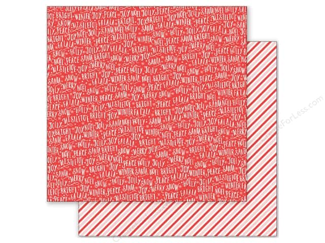 Pebbles 12 x 12 in. Paper Holly Jolly Christmas Greeting (25 sheets)