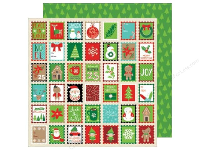 American Crafts 12 x 12 in. Paper All Wrapped Up Holiday Greetings (25 sheets)