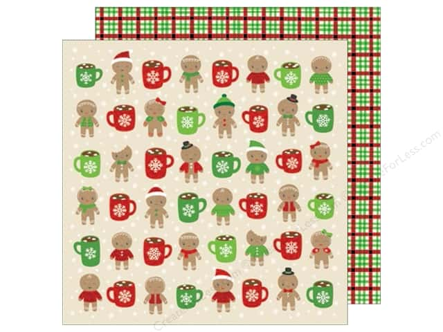 American Crafts 12 x 12 in. Paper All Wrapped Up Hot Cocoa (25 sheets)