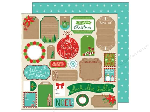 American Crafts 12 x 12 in. Paper All Wrapped Up Tags (25 sheets)