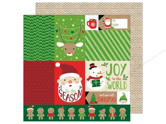 American Crafts 12 x 12 in. Paper All Wrapped Up Tis The Season (25 sheets)
