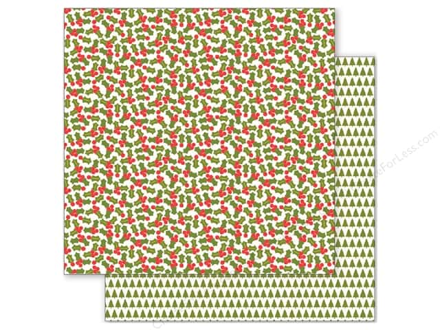 Pebbles 12 x 12 in. Paper Holly Jolly Holly (25 sheets)