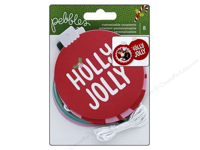 Pebbles Ornaments Holly Jolly