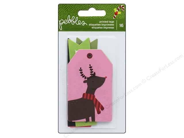 Pebbles Gift Tags Holly Jolly