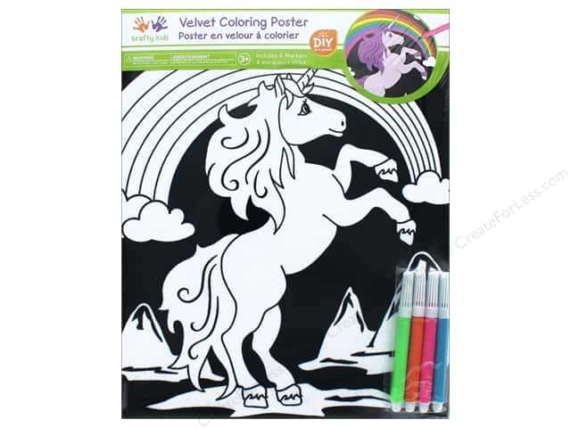 Multicraft Krafty Kids Velvet Coloring Poster Unicorn