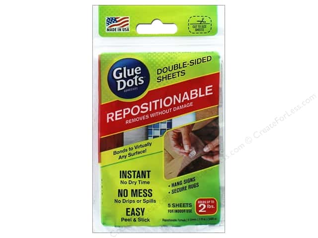 Glue Dots Double Sided Sheet Repositionable 5pc