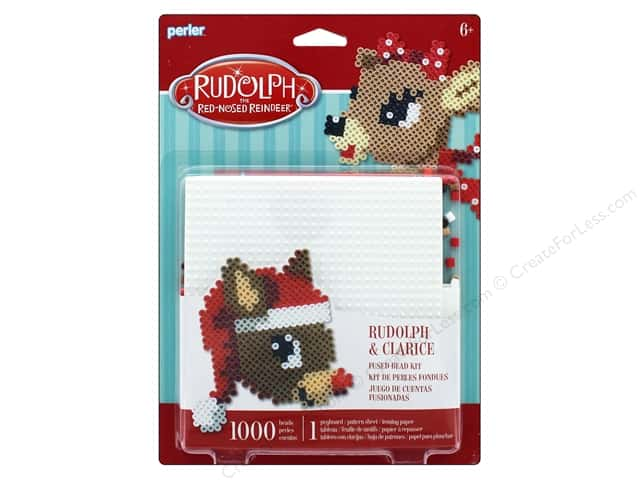 perler fused bead kit rudolph clarice 1000pc