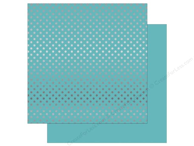 Echo Park 12 x 12 in. Paper Dots & Stripes Winter Silver Foil Light Blue (25 sheets)