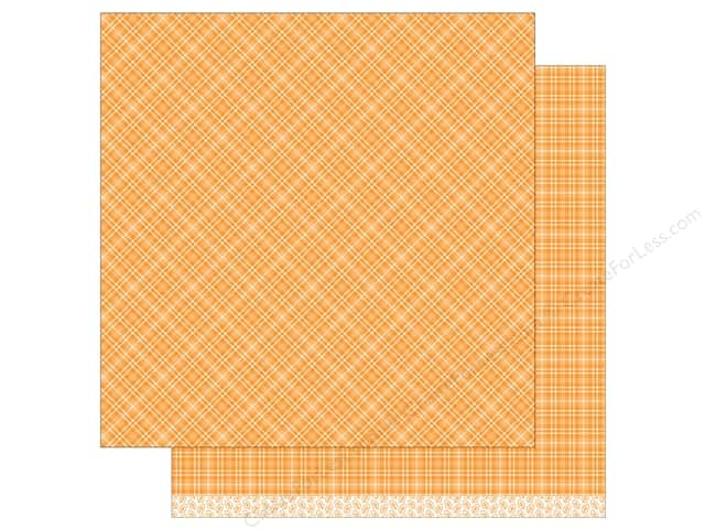 """Lawn Fawn Collection Perfectly Plaid Paper 12""""x 12"""" Pumpkin Pie (12 sheets)"""