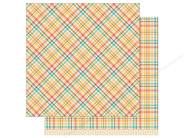 "Lawn Fawn Collection Perfectly Plaid Paper 12""x 12"" Maple Syrup (12 sheets)"