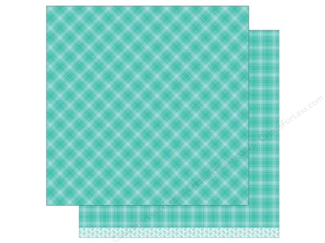 """Lawn Fawn Collection Perfectly Plaid Paper 12""""x 12"""" Iced Latte (12 sheets)"""