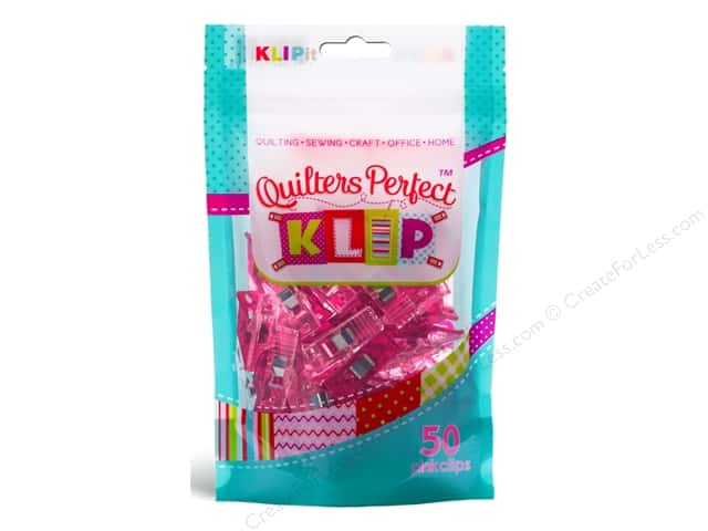KLIPit Quilters Perfect Klip 50pc Pink