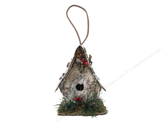 Sierra Pacific Crafts Decor Ornament Birdhouse Bark Look Natural