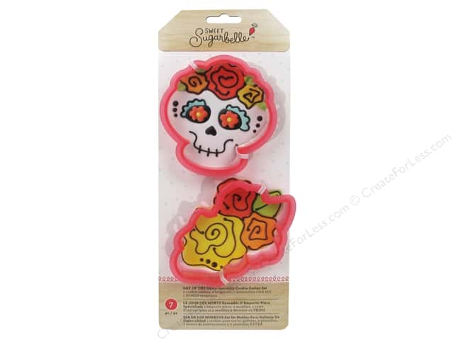 American Crafts Sweet Sugarbelle Cookie Cutter Set Day Of The Dead