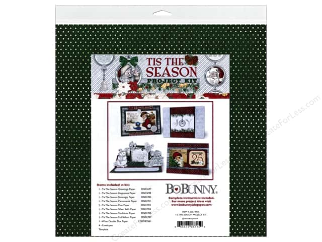 Bo Bunny Project Kit Tis The Season Christmas Card