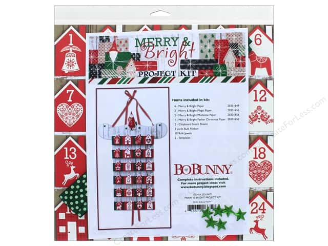 Bo Bunny Project Kit Merry & Bright Advent Calendar