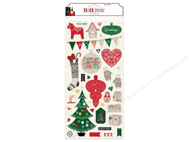 Bo Bunny Chipboard Merry & Bright
